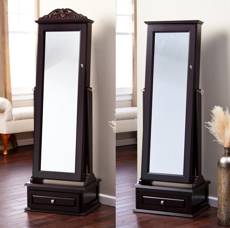 armoire mirror jewelry boxes