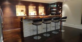 bar design ideas for basement