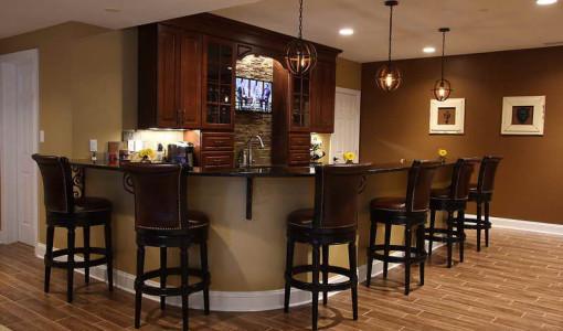 basement bar layout