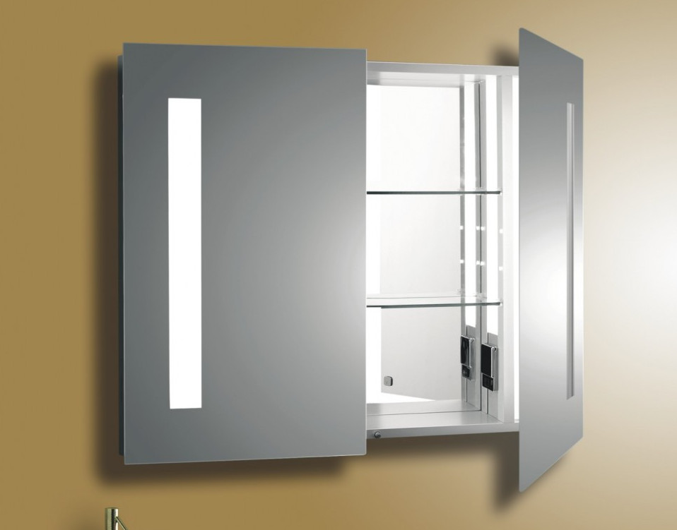 bathroom medicine cabinets with mirror and lights interesting ideas for home
