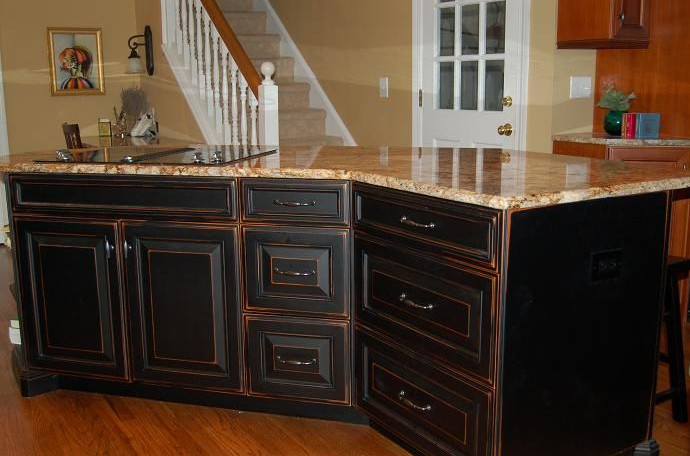 black painted furniture distressed