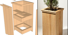build a wooden planter box