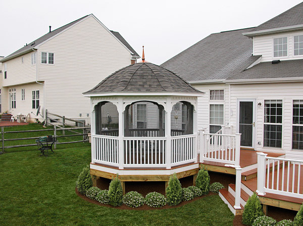Canopy gazebos for decks interesting ideas for home for Deck with gazebo