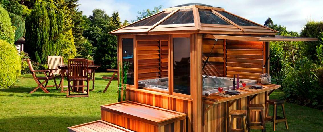 Cedar gazebo hot tub enclosures joy studio design for Diy hot tub gazebo