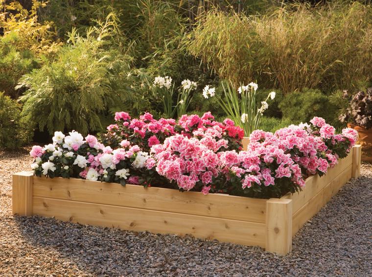 cedar raised flower beds