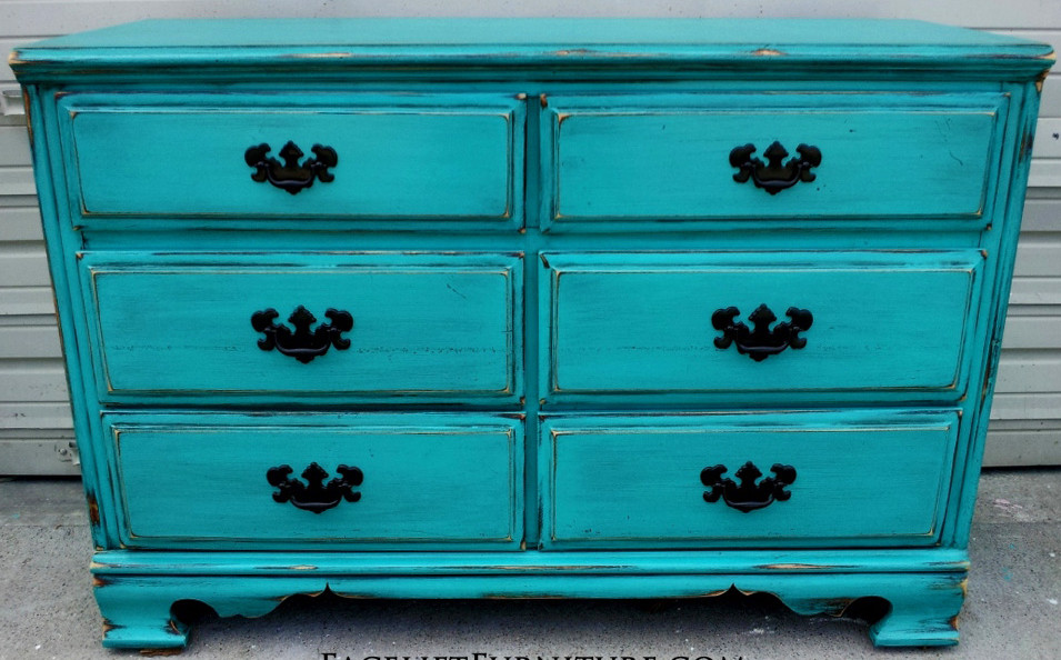 Colorful Distressed Furniture