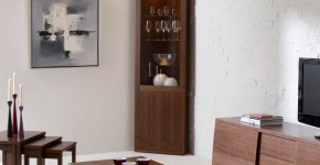 corner liquor cabinet