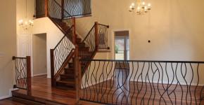 decorative iron stair railings