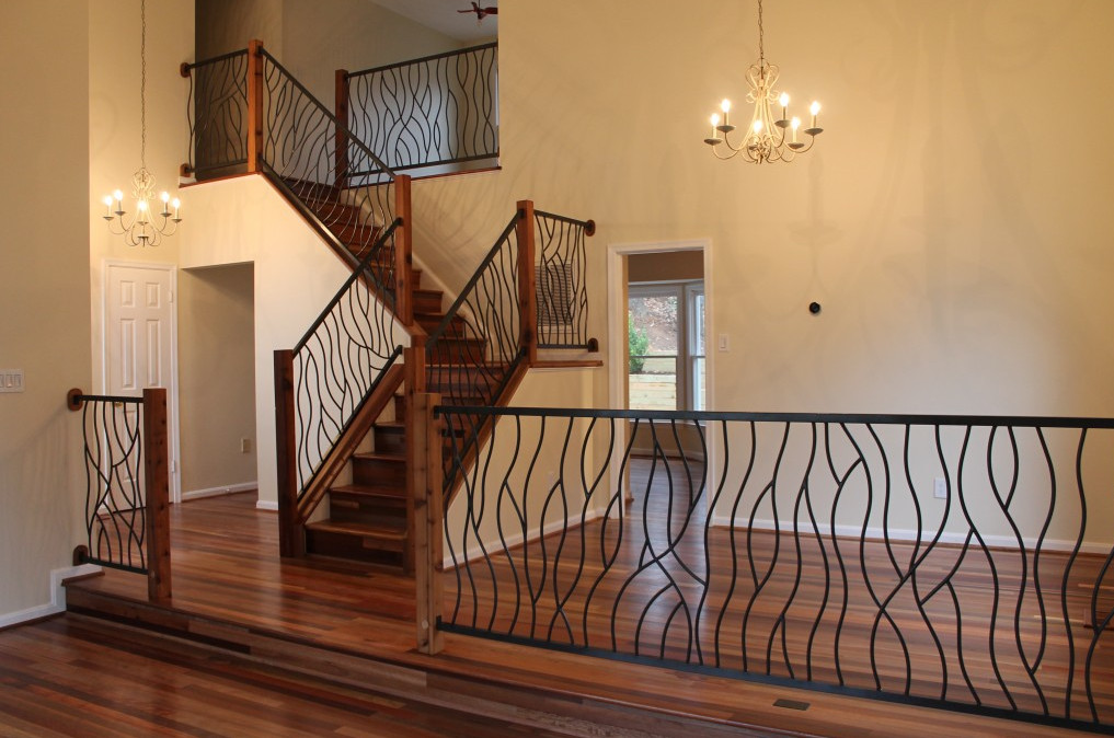decorative iron stair railings