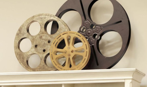 decorative movie reels