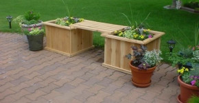 decorative wooden planter boxes