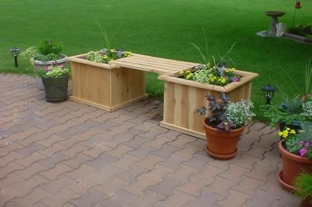 Decorative wooden planter boxes interesting ideas for home for Home garden box design