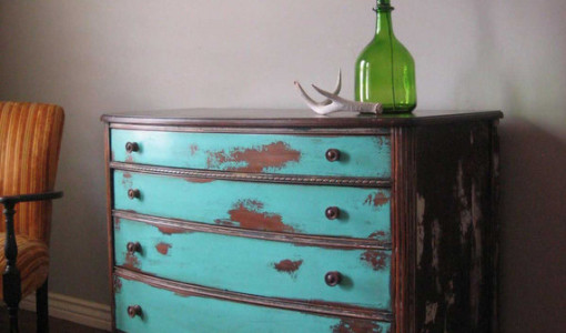 Distress Painted Wood Furniture