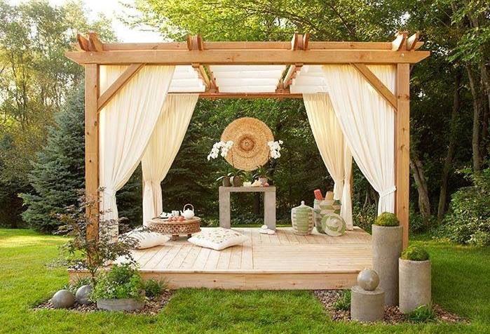 DIY canopy gazebo