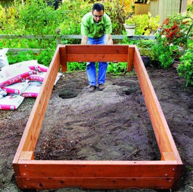 diy raised flower beds