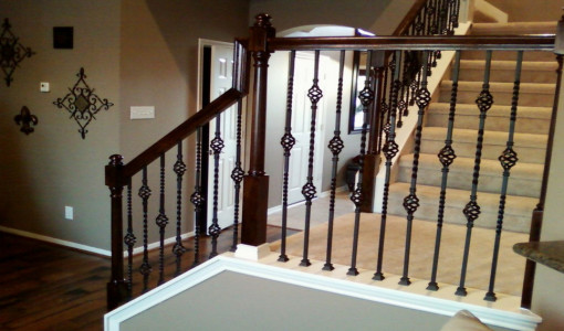 diy wrought iron balusters