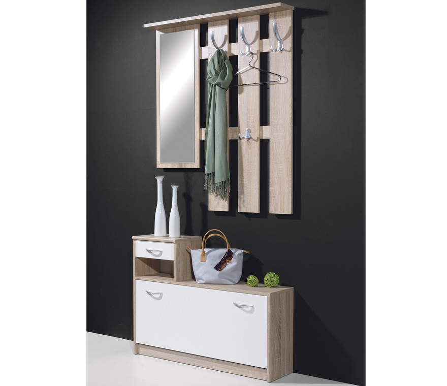 Entry benches with coat rack interesting ideas for home Wall mount entryway organizer mirror hallway coat rack key cabinet
