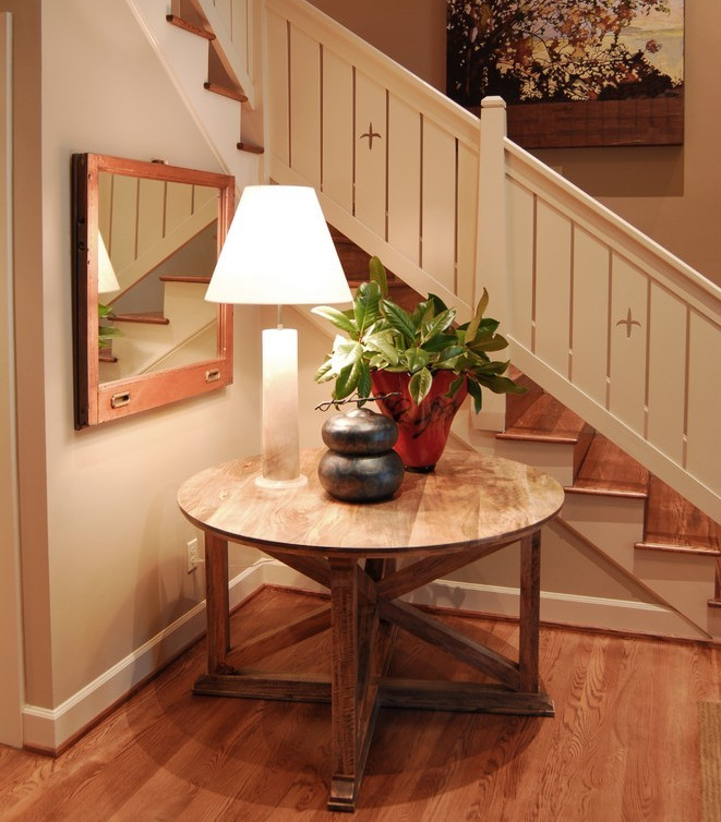 Entryway round table ideas interesting ideas for home Entry table design ideas
