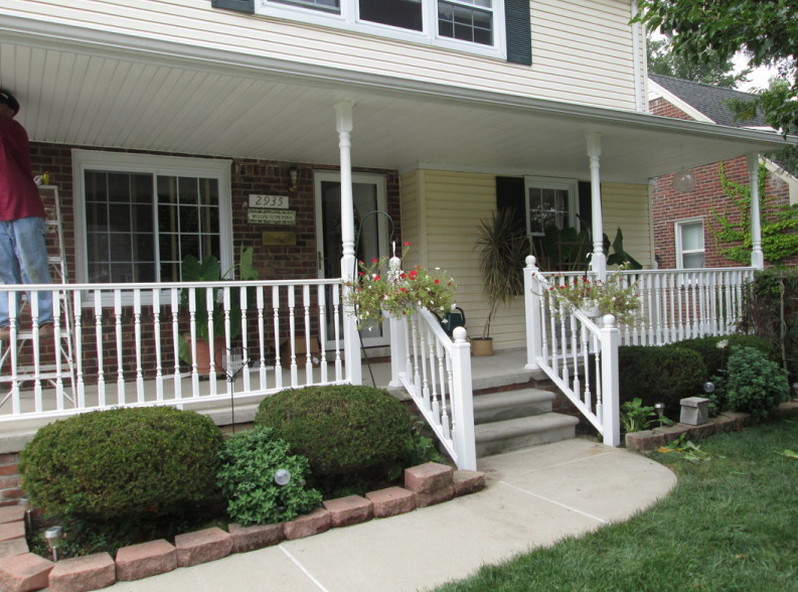 front porch railing height