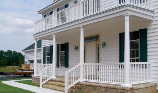 front porch wood railing