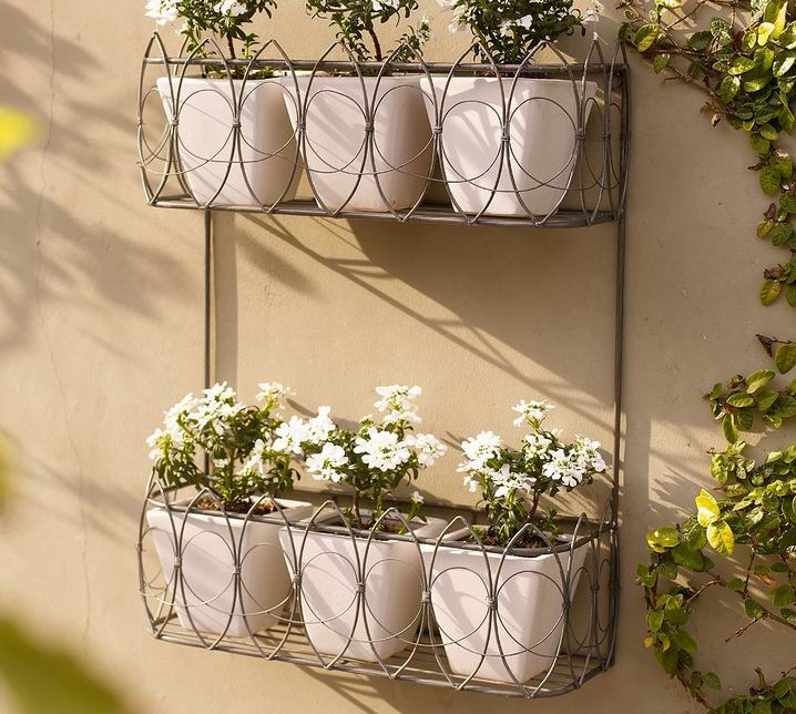 garden wall planters metal