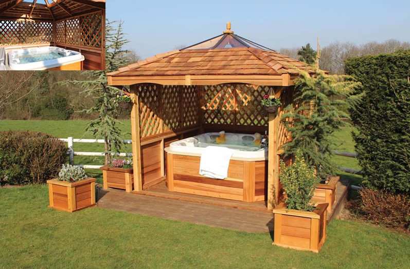 Gazebo designs for hot tubs