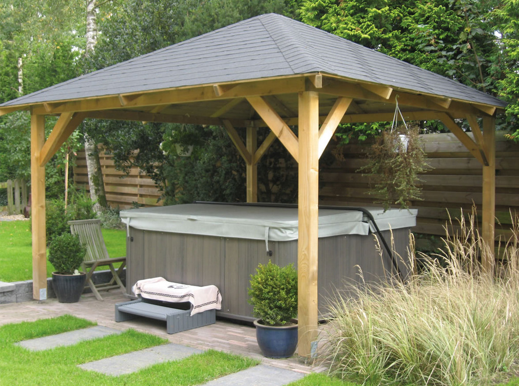 Gazebo hot tub cover interesting ideas for home for Diy hot tub gazebo