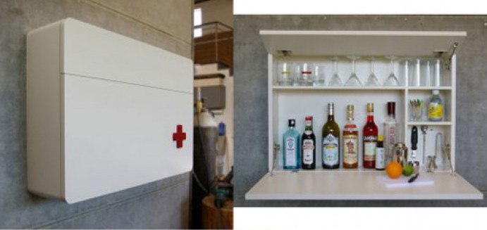 hanging liquor cabinet