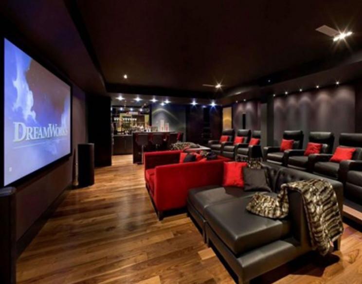 Home media room furniture