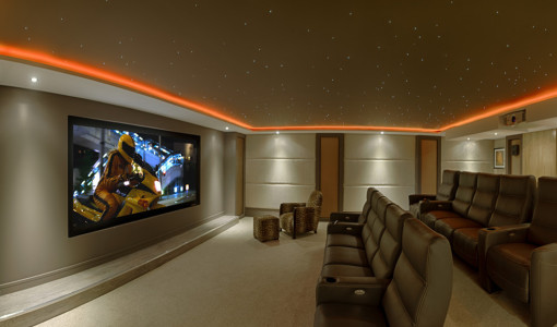 home movie theater lighting