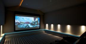 home theater floor lighting