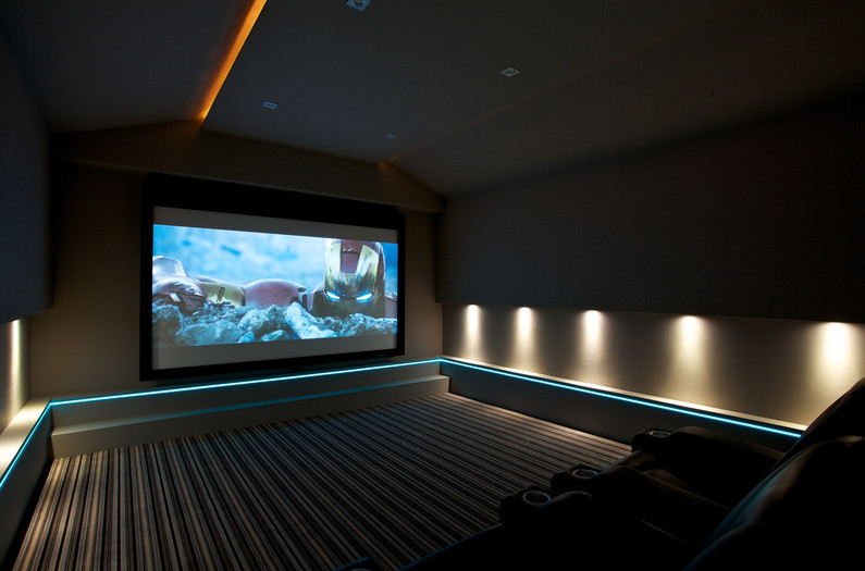 Home Theater Floor Lighting Interesting Ideas For Home