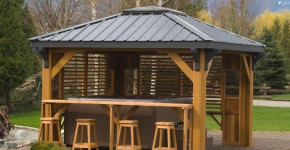hot tub gazebo with bar