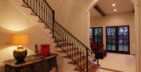 indoor iron stair railing