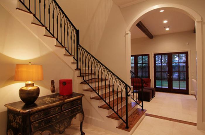 wrought iron interior stair railings indoor iron stair railing interesting ideas for home 11843