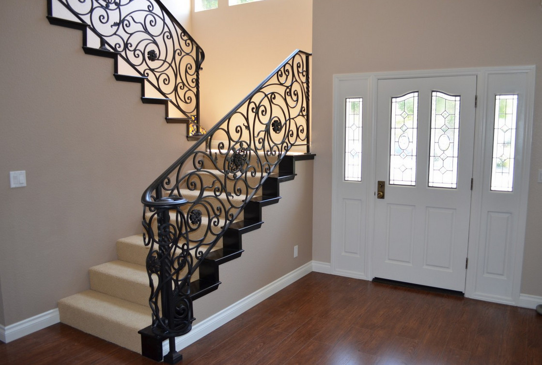 iron stair railing designs