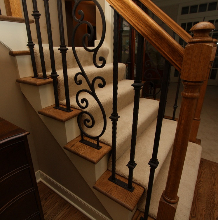 iron stair railing parts