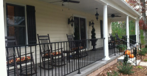 metal front porch railings