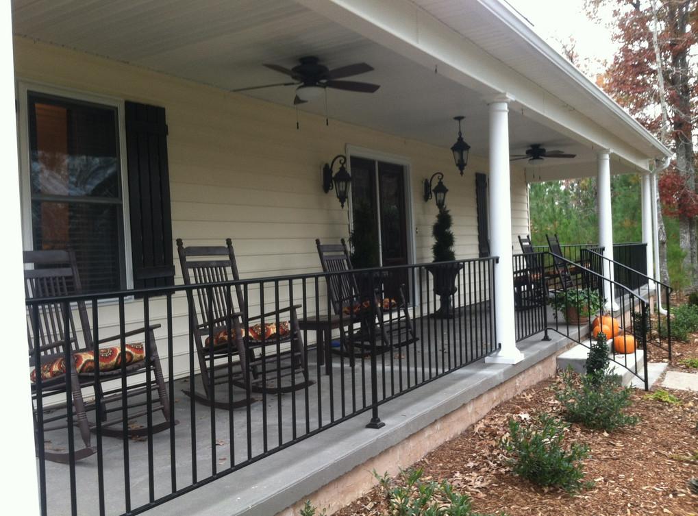 metal front porch railings