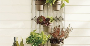 metal wall mounted planters