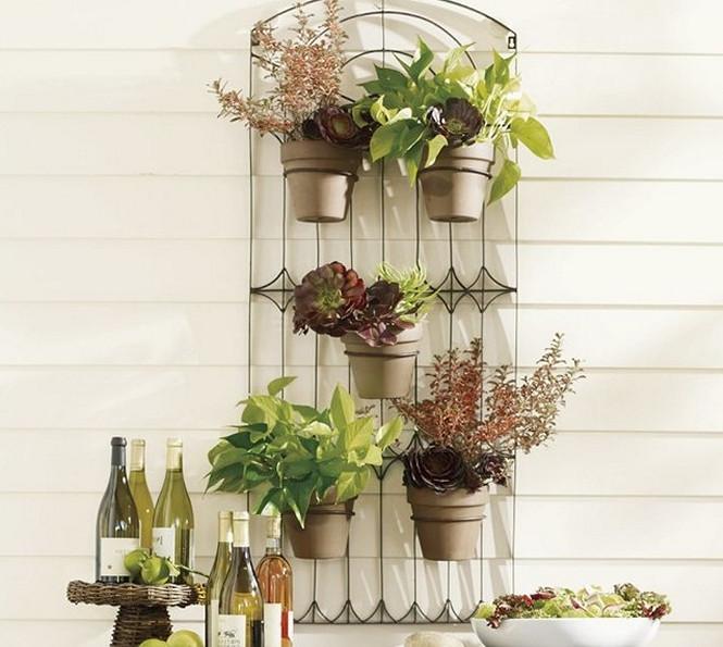 metal wall mounted planters