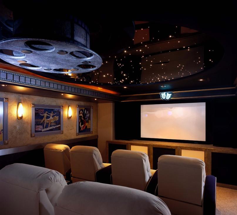 movie theater style decor