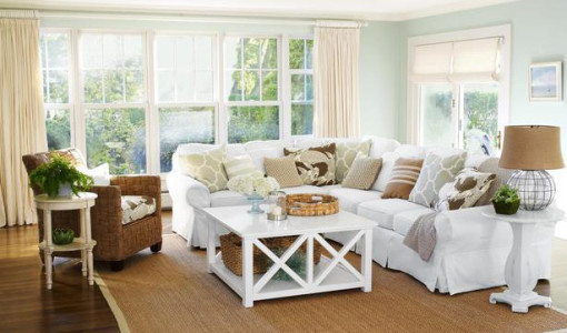 Bloombety the best neutral paint colors for small living - Small beach house decorating ideas ...