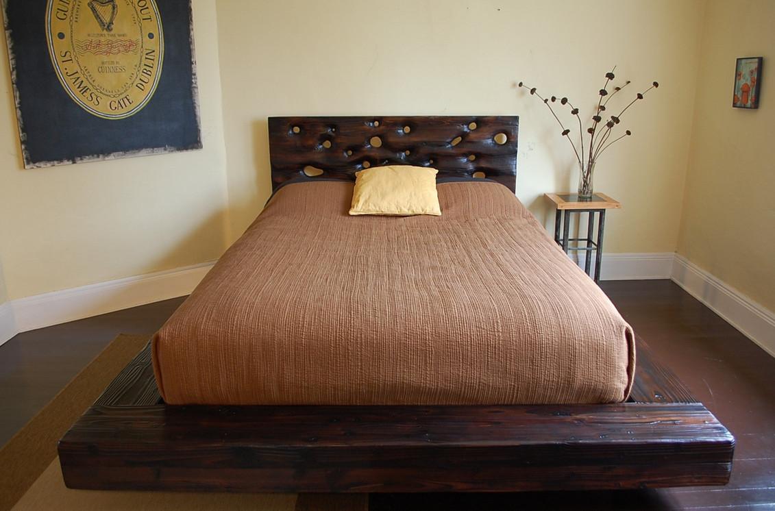 raised bed frame king