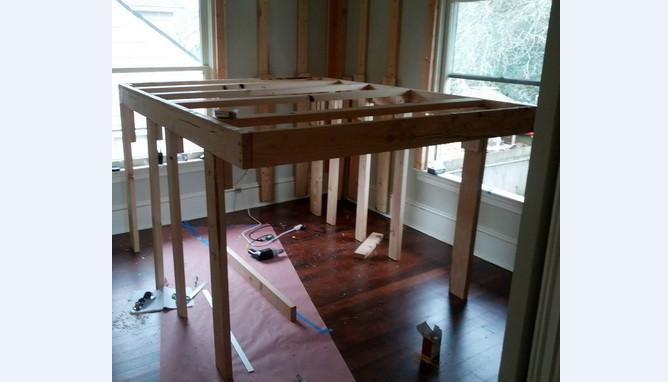 Raised bed drames full interesting ideas for home for Raised full bed frame