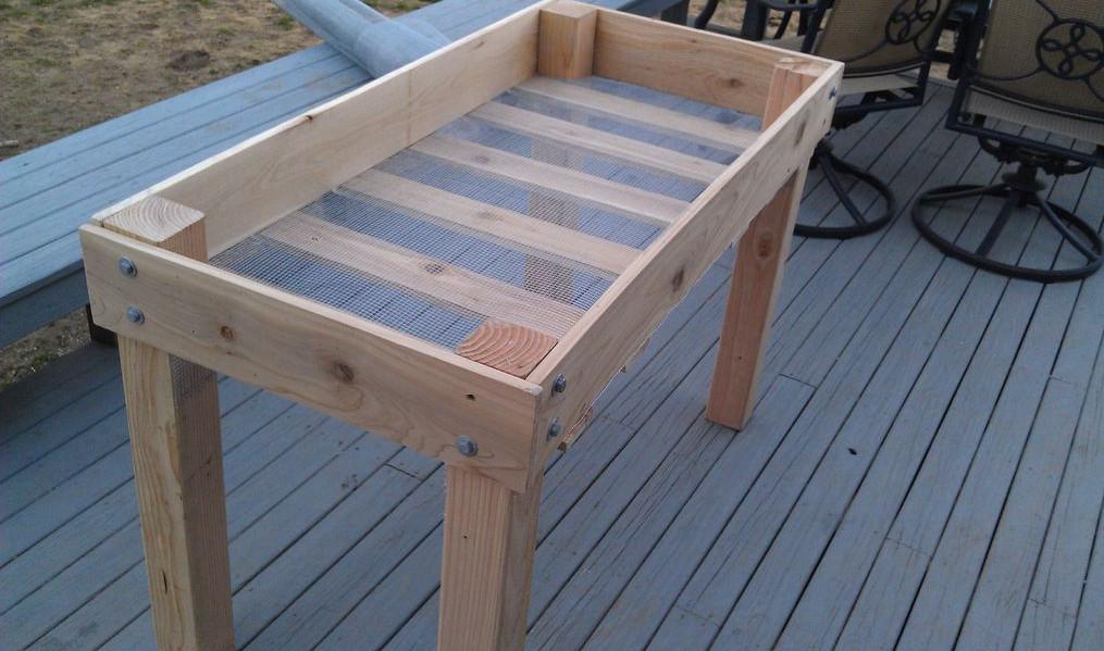 raised container garden box plans