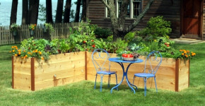 raised flower beds designs