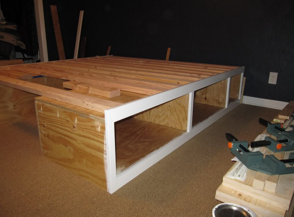 Raised Wooden Bed Frame Interesting Ideas For Home