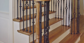 replacing wooden balusters wrought iron