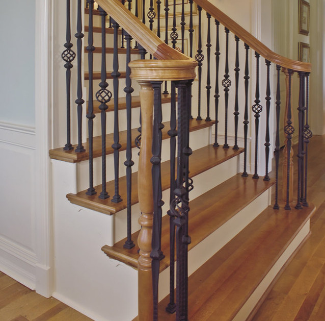 Replacing Wooden Balusters Wrought Iron Interesting
